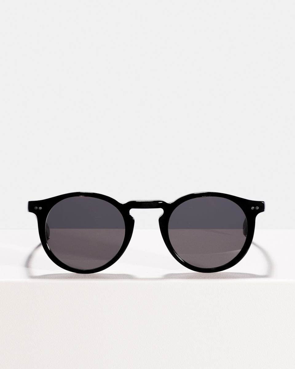 Benjamin round bio acetate glasses in Bio Black by Ace & Tate