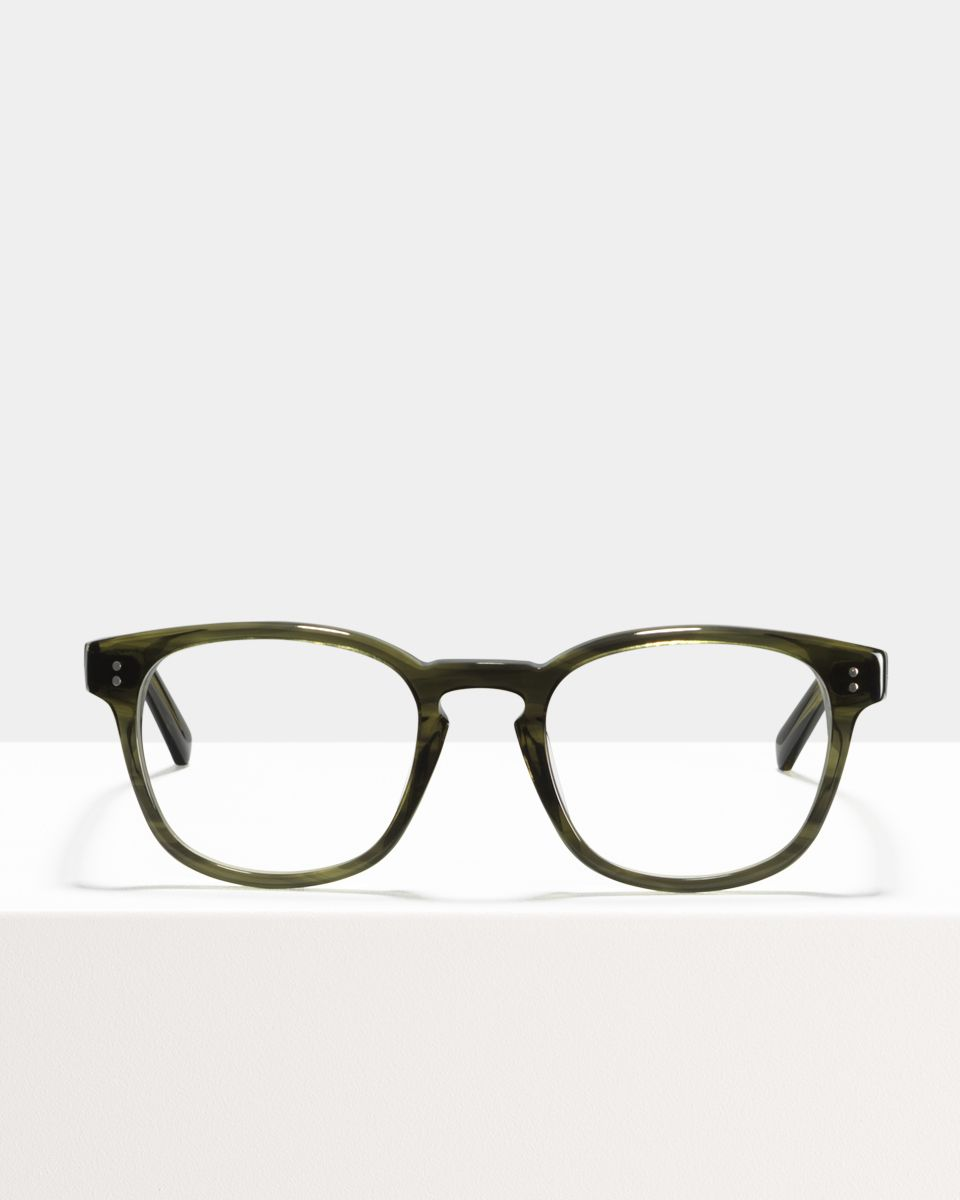 Alfred quadratisch Bio-Acetat glasses in Botanical Haze by Ace & Tate