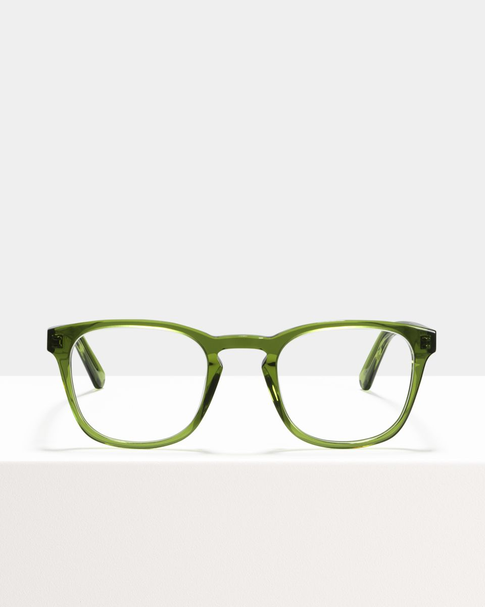 Axl quadratisch Acetat glasses in Pine by Ace & Tate