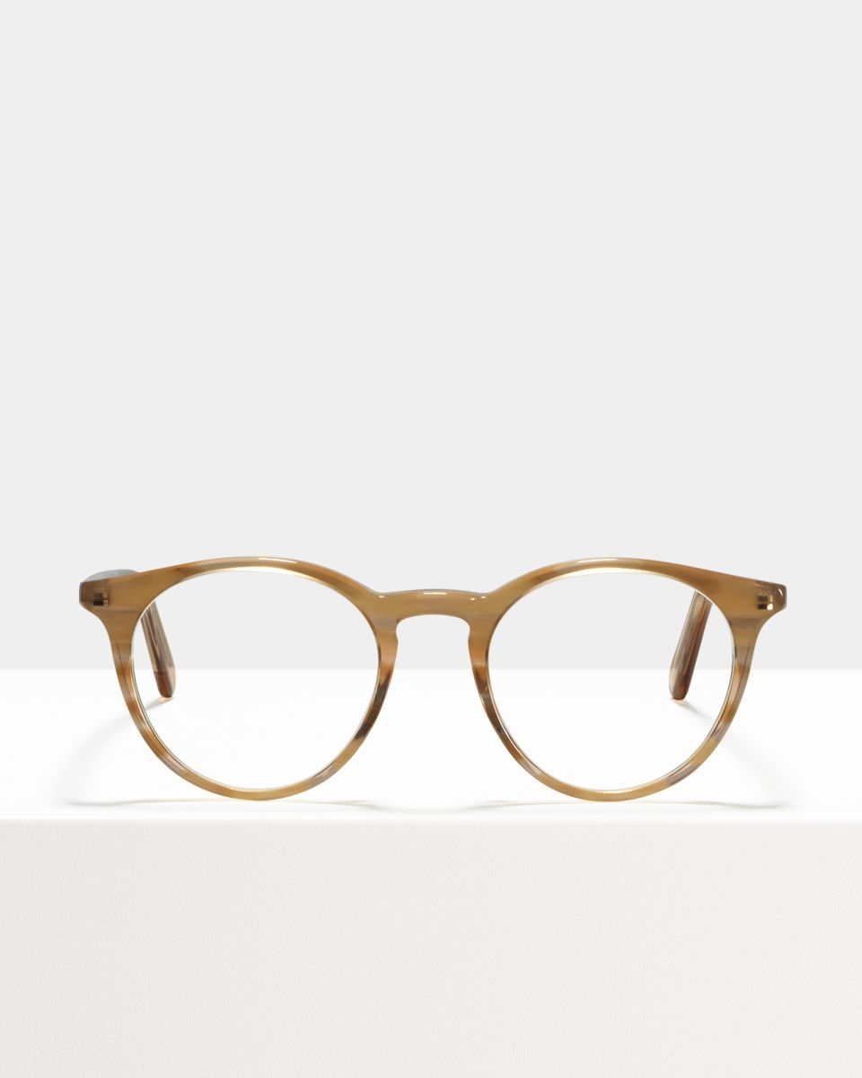 Easton round acetate glasses in Sunset by Ace & Tate