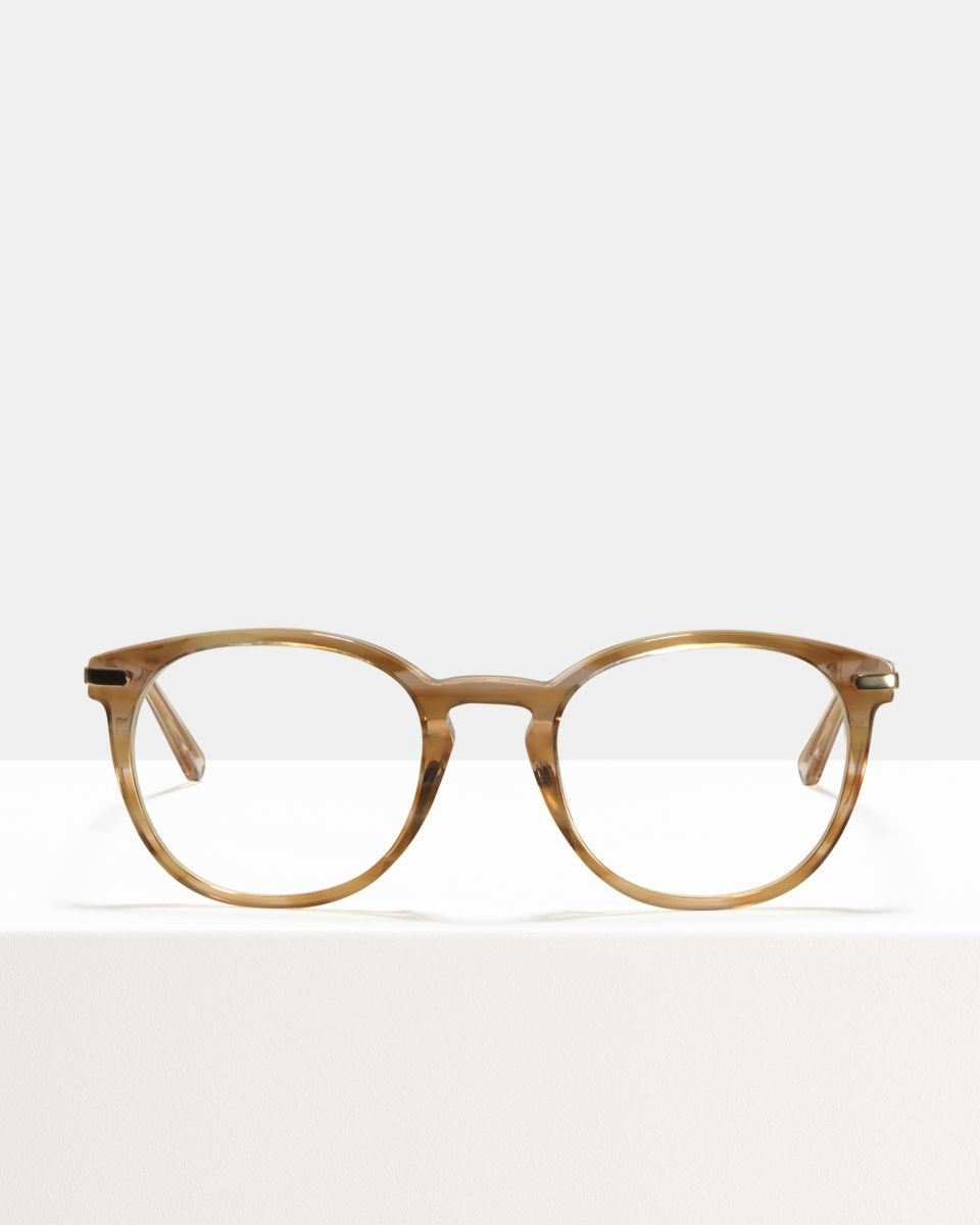 Franck quadratisch Verbund glasses in Sunset by Ace & Tate