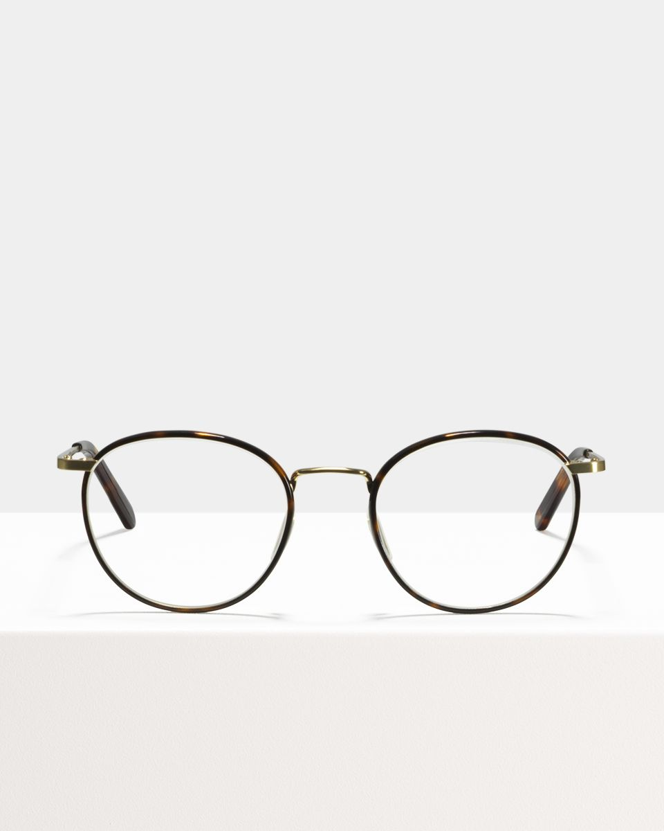 Neil Large rond metaal glasses in Hazelnut Tortoise by Ace & Tate