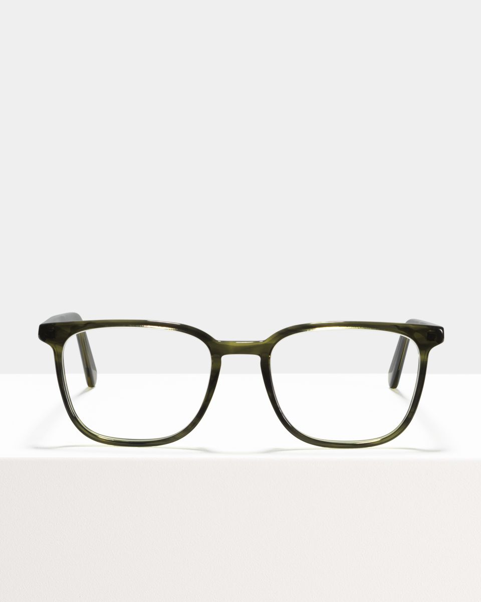 Nelson rechteckig Bio-Acetat glasses in Botanical Haze by Ace & Tate