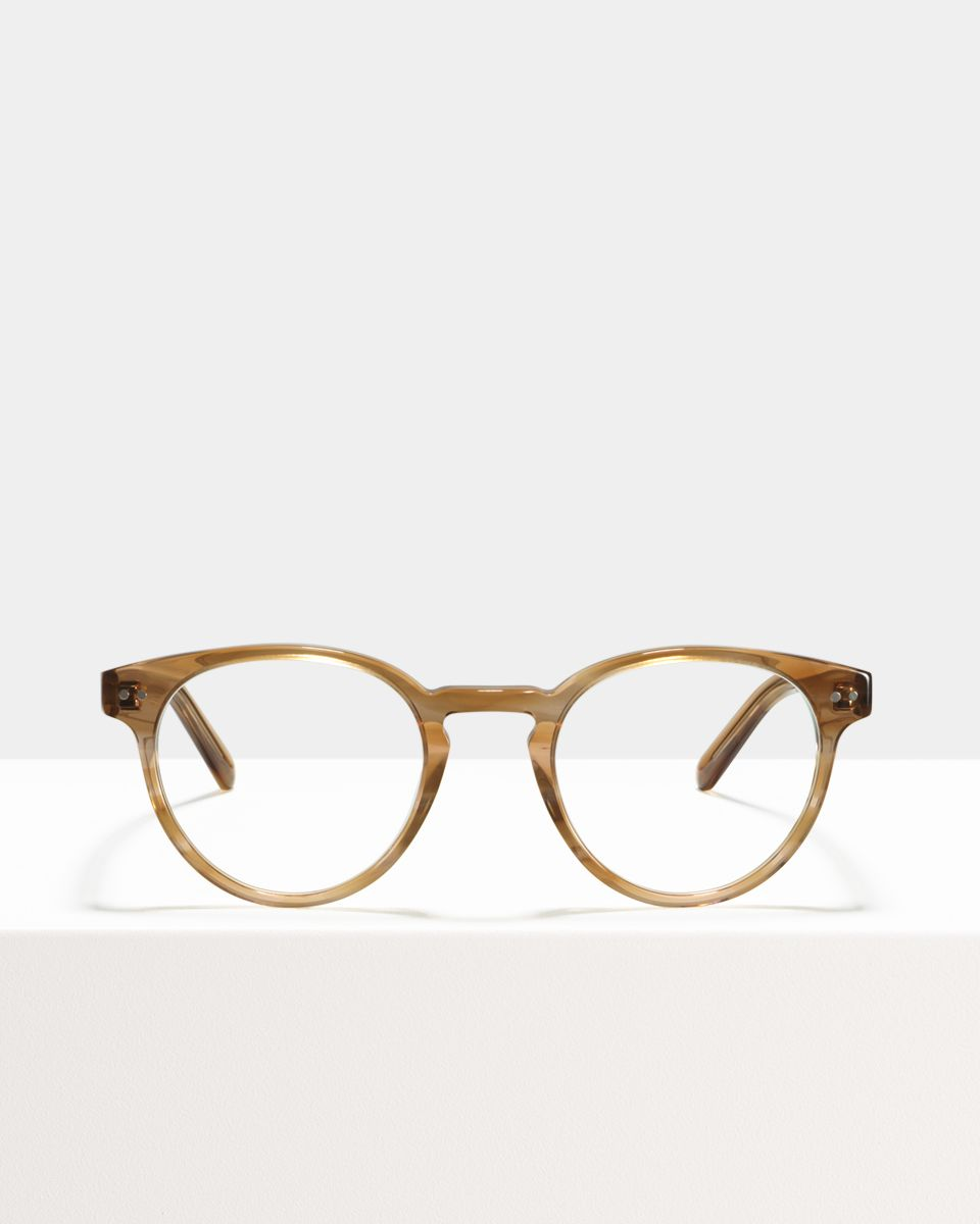 Pierce round acetate glasses in Sunset by Ace & Tate