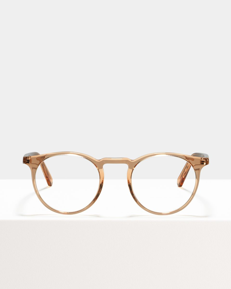 Roth rond acetaat glasses in Marmalade by Ace & Tate