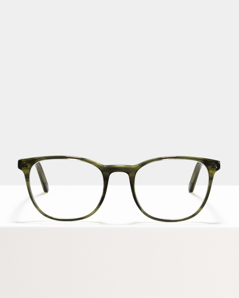 Saul round bio acetate glasses in Botanical Haze by Ace & Tate