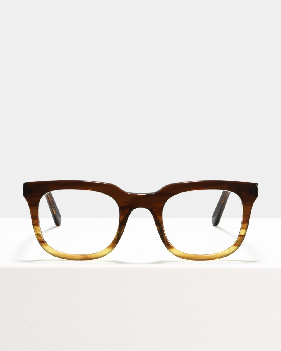 Teller rechteckig Acetat glasses in Chocolate Havana Fade by Ace & Tate