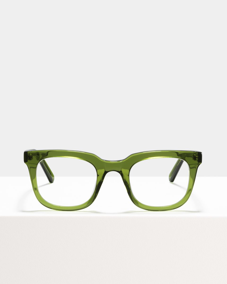 Teller Small rechthoek acetaat glasses in Pine by Ace & Tate