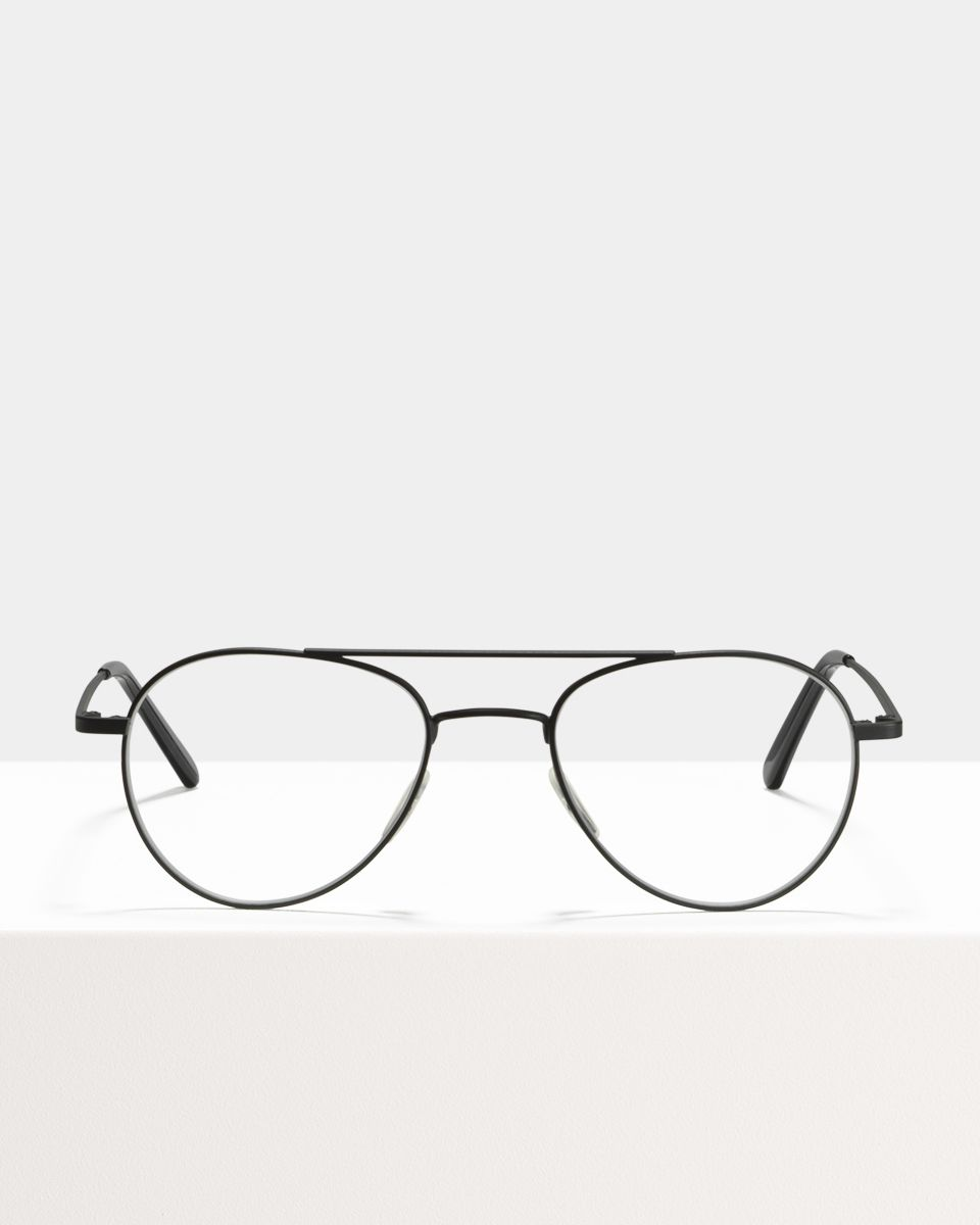 Wright other metaal glasses in Matte black by Ace & Tate