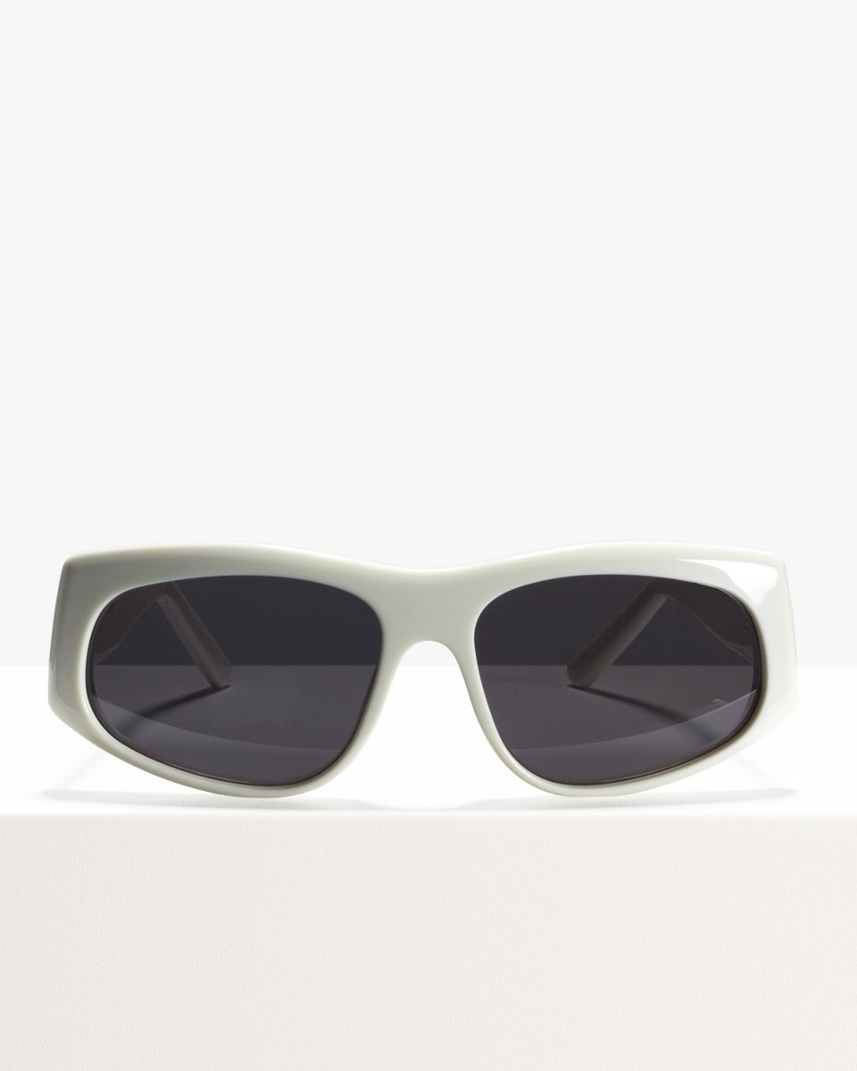 Billy ronde acétate glasses in White by Ace & Tate