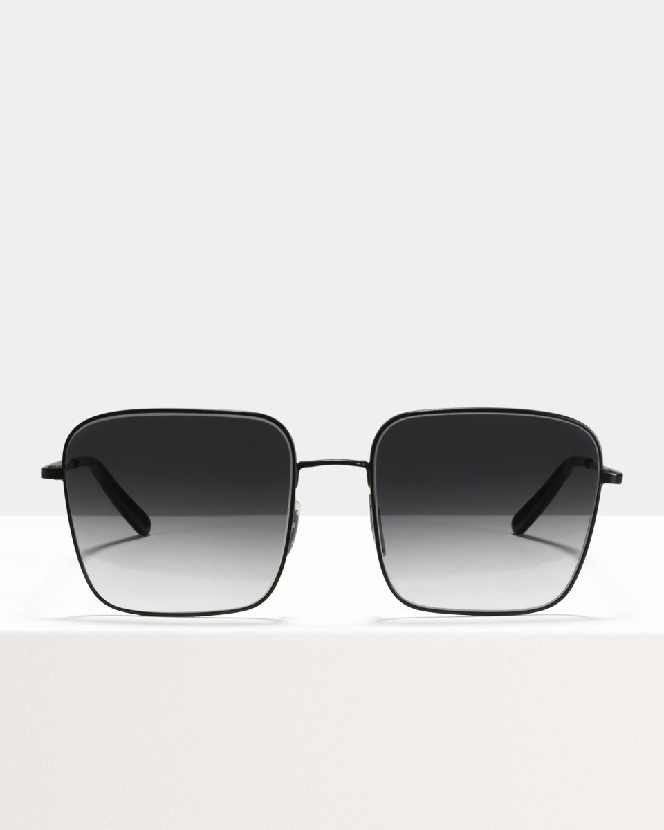 Sofia square metal glasses in Matte Black by Ace & Tate