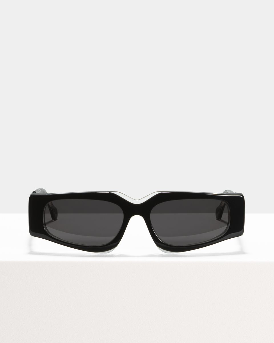 Ashley Hell Raiser rechthoek acetaat glasses in Obsidian by Ace & Tate