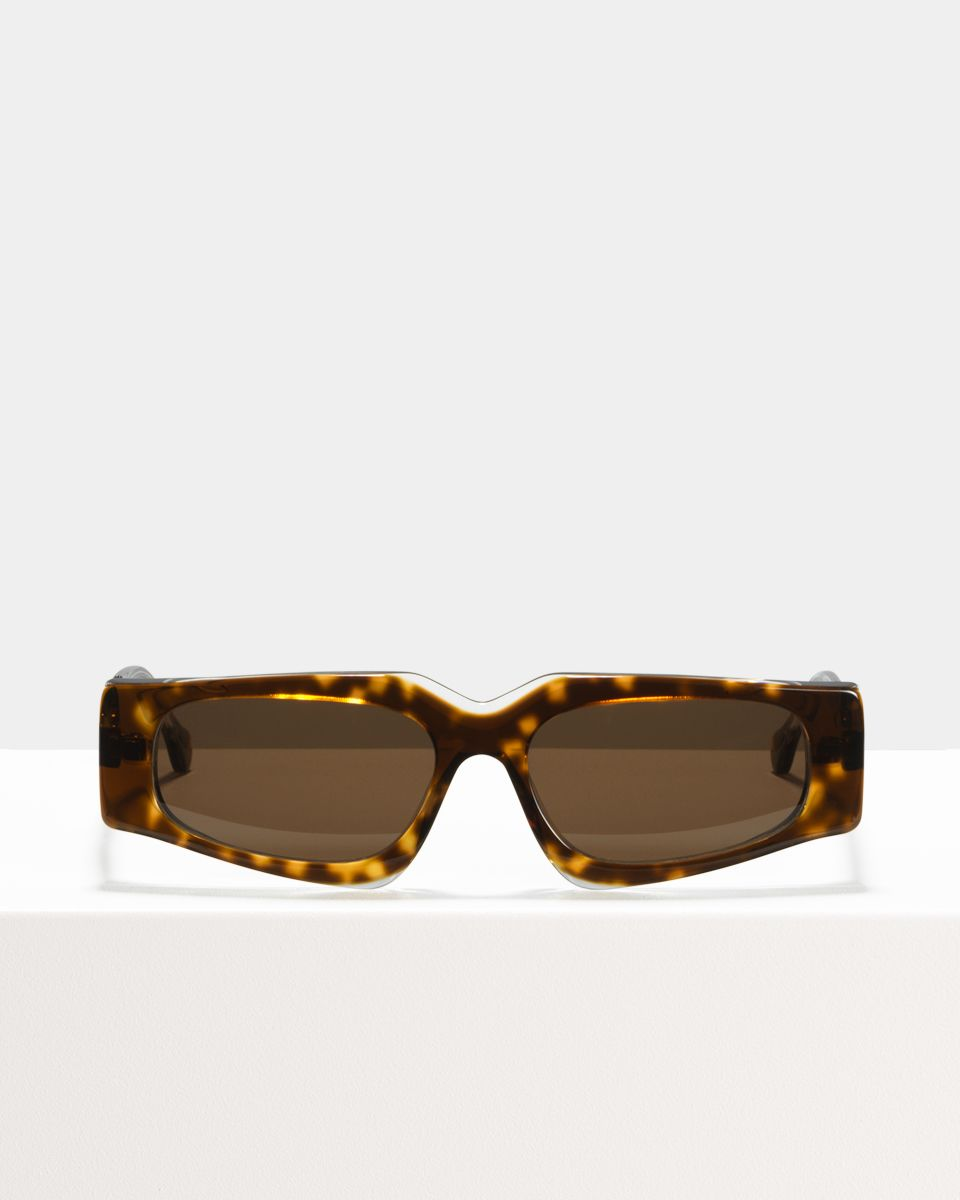 Ashley Hell Raiser rectangle acetate glasses in Esio Trot by Ace & Tate