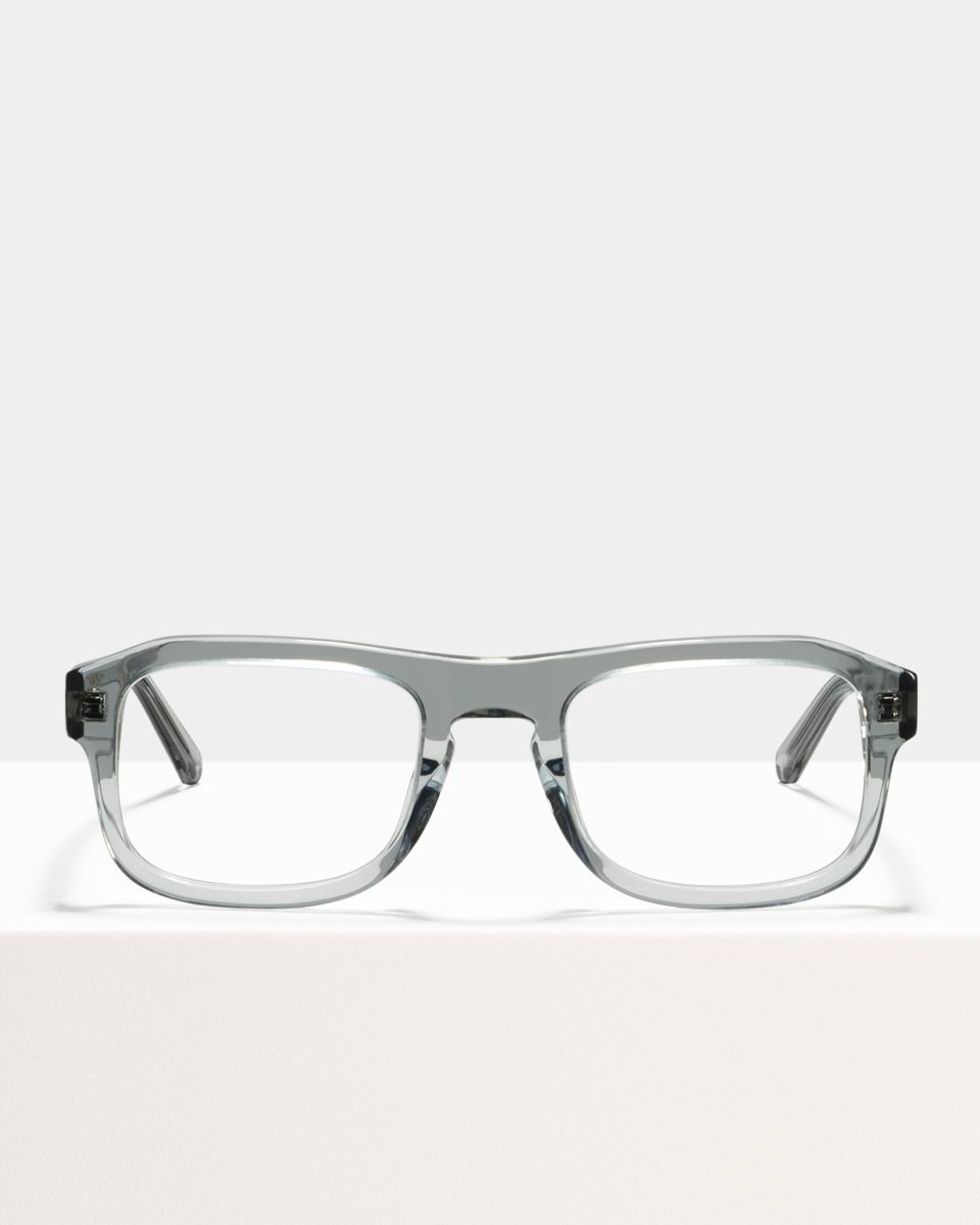 Russel rechthoekig acetaat glasses in Smoke by Ace & Tate