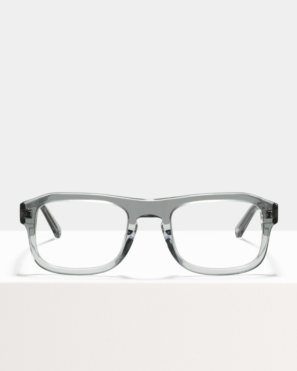 Russel rechteckig Acetat glasses in Smoke by Ace & Tate