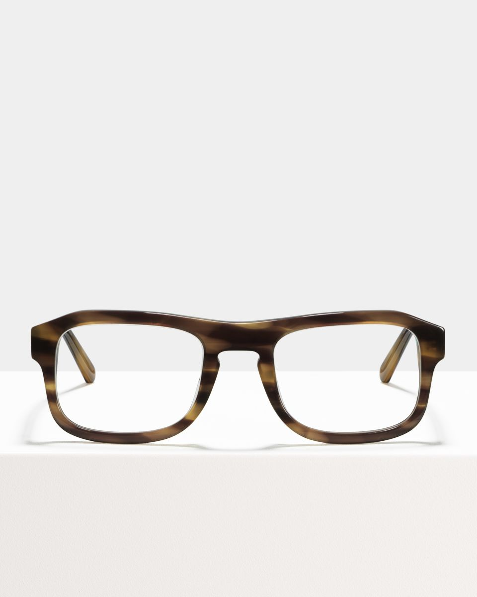 Russel rechthoek acetaat glasses in Taupe Tortoise by Ace & Tate