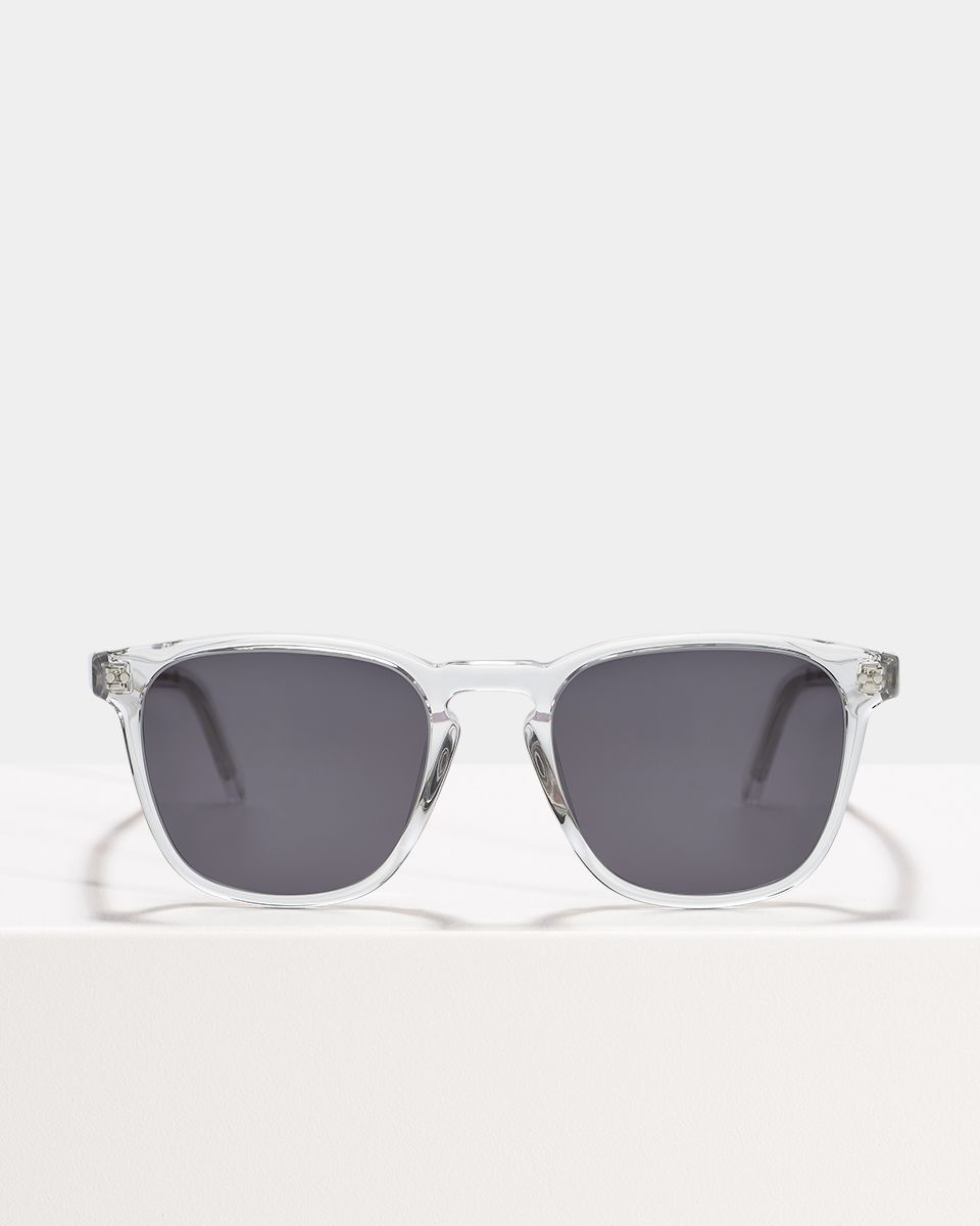 Hudson square acetate glasses in Crystal by Ace & Tate