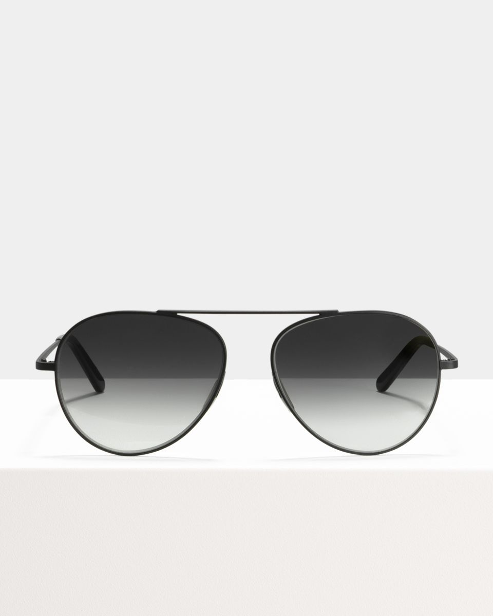 Jimi other metal glasses in Matte Black by Ace & Tate