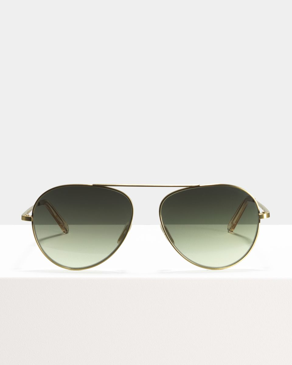 Jimi metal glasses in Satin Gold by Ace & Tate