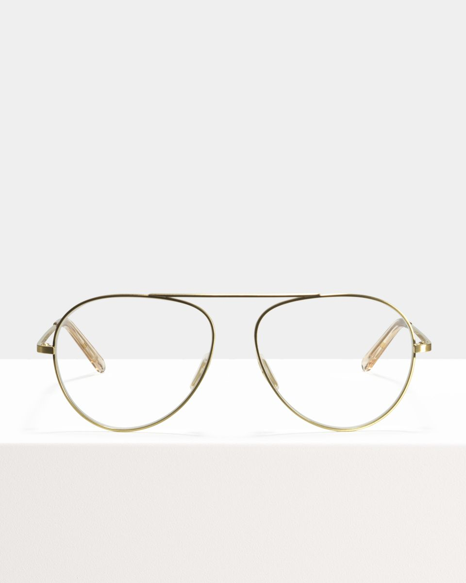 Jimi métal glasses in Satin Gold by Ace & Tate