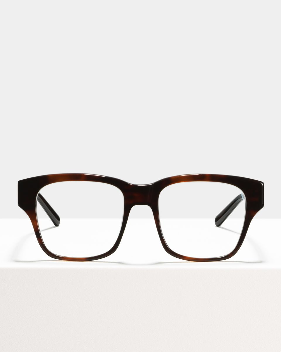 Matt vierkant acetaat glasses in Rosewood by Ace & Tate