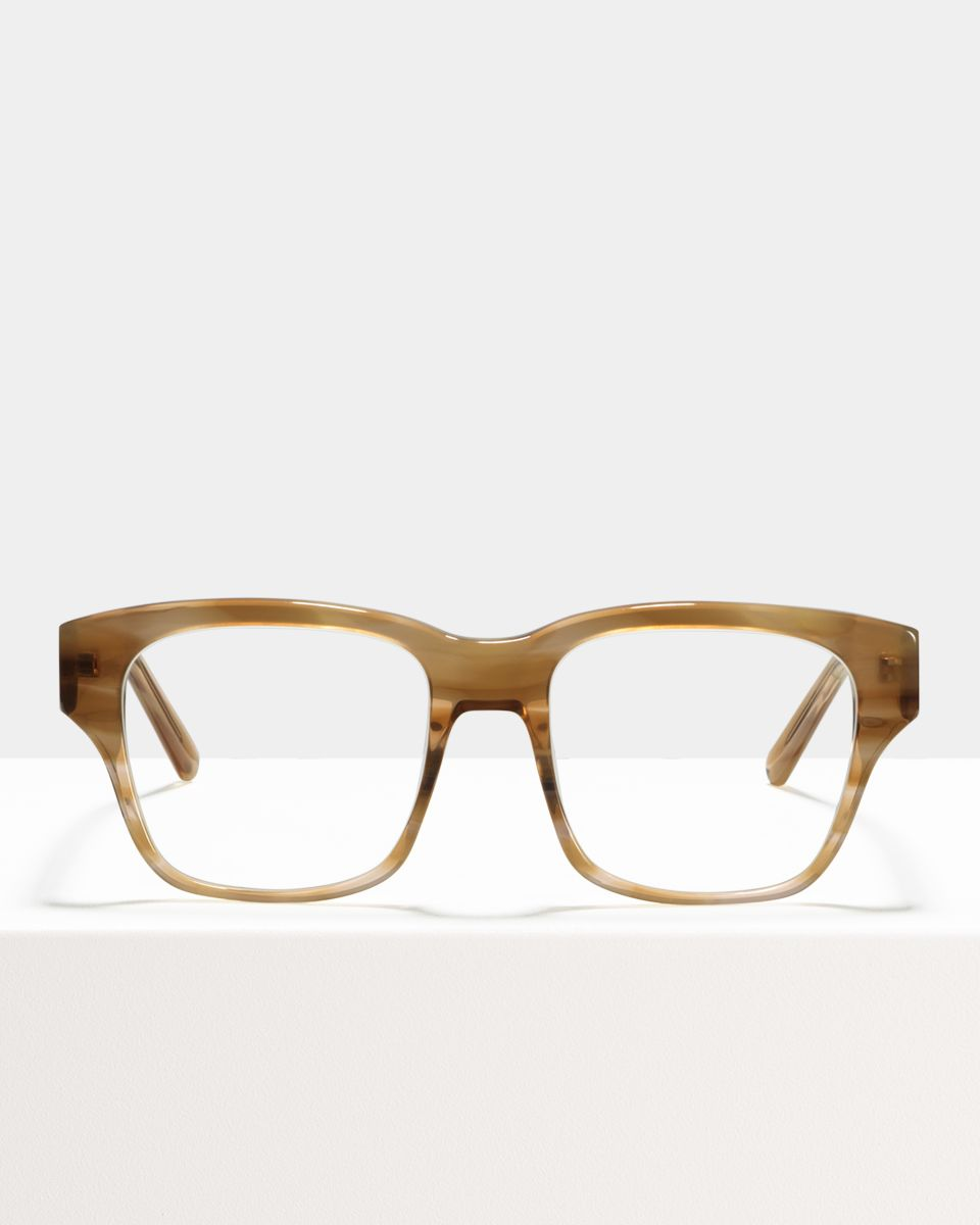 Matt quadratisch Acetat glasses in Sunset by Ace & Tate
