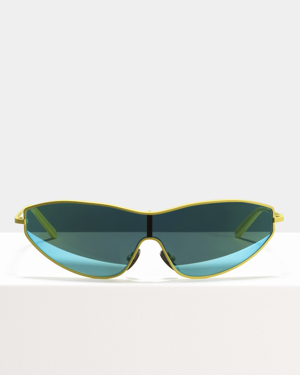 Flash metal glasses in Matte Yellow by Ace & Tate