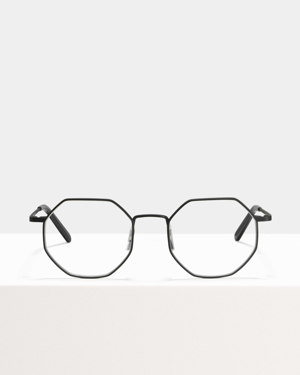 Elton metaal glasses in Matte Black by Ace & Tate