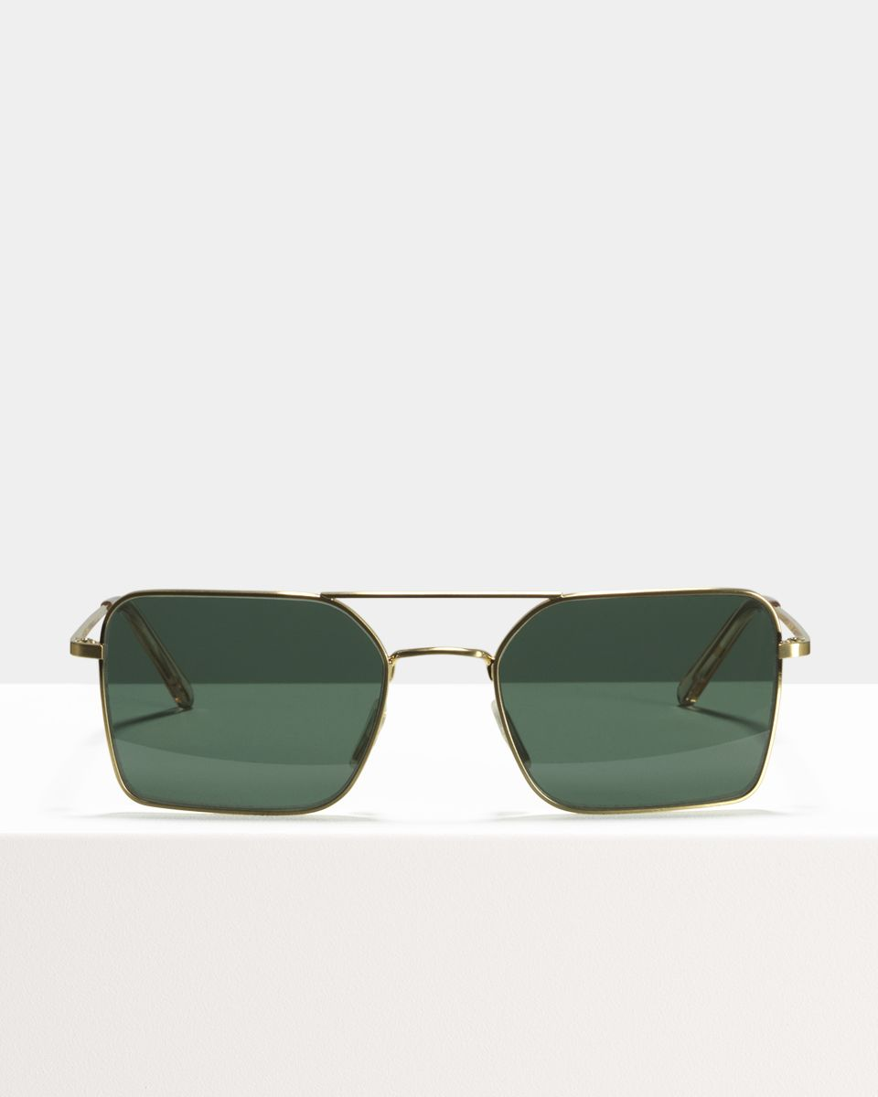 Zack metal glasses in Satin Gold by Ace & Tate