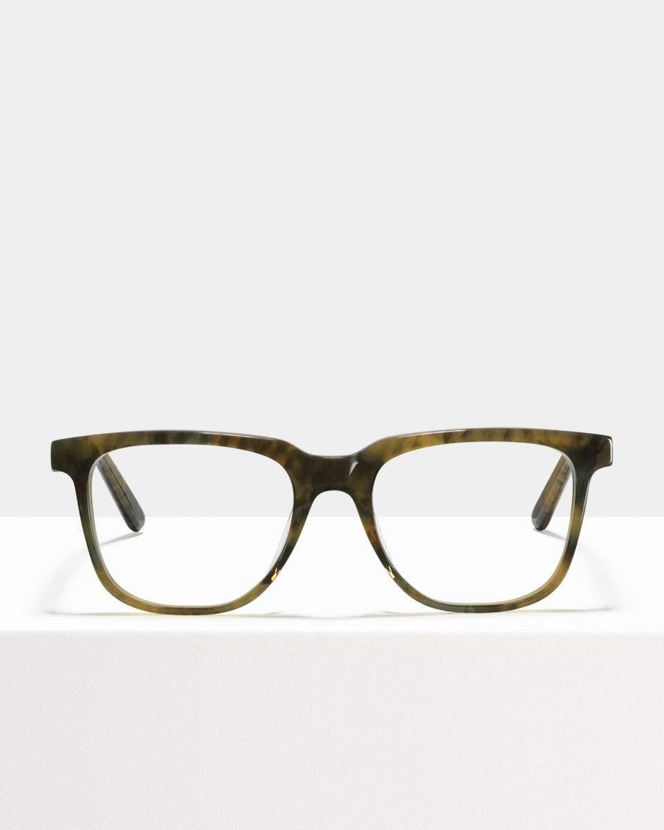 Murray rechteckig Acetat glasses in Marbled Green by Ace & Tate