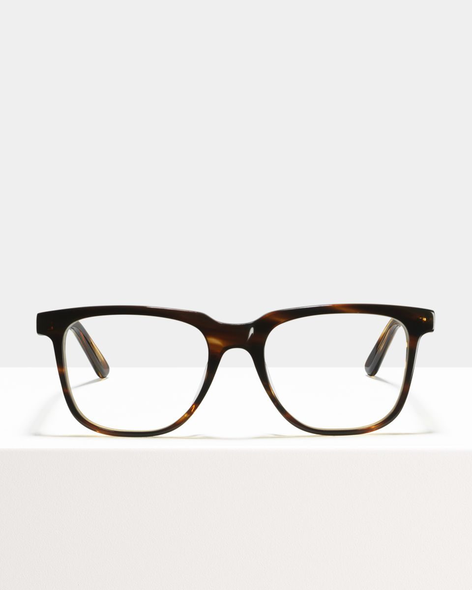 Murray rectangulaire acétate glasses in Tiger Wood by Ace & Tate