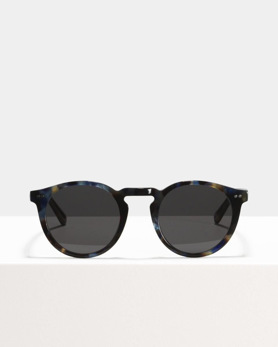 Benjamin round acetate glasses in Midnight by Ace & Tate