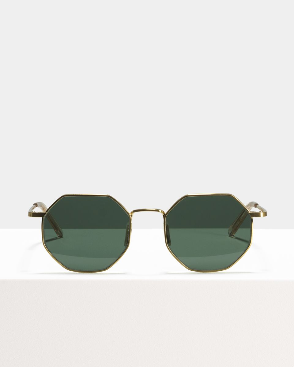 Elton quadratisch Metall glasses in Satin Gold by Ace & Tate