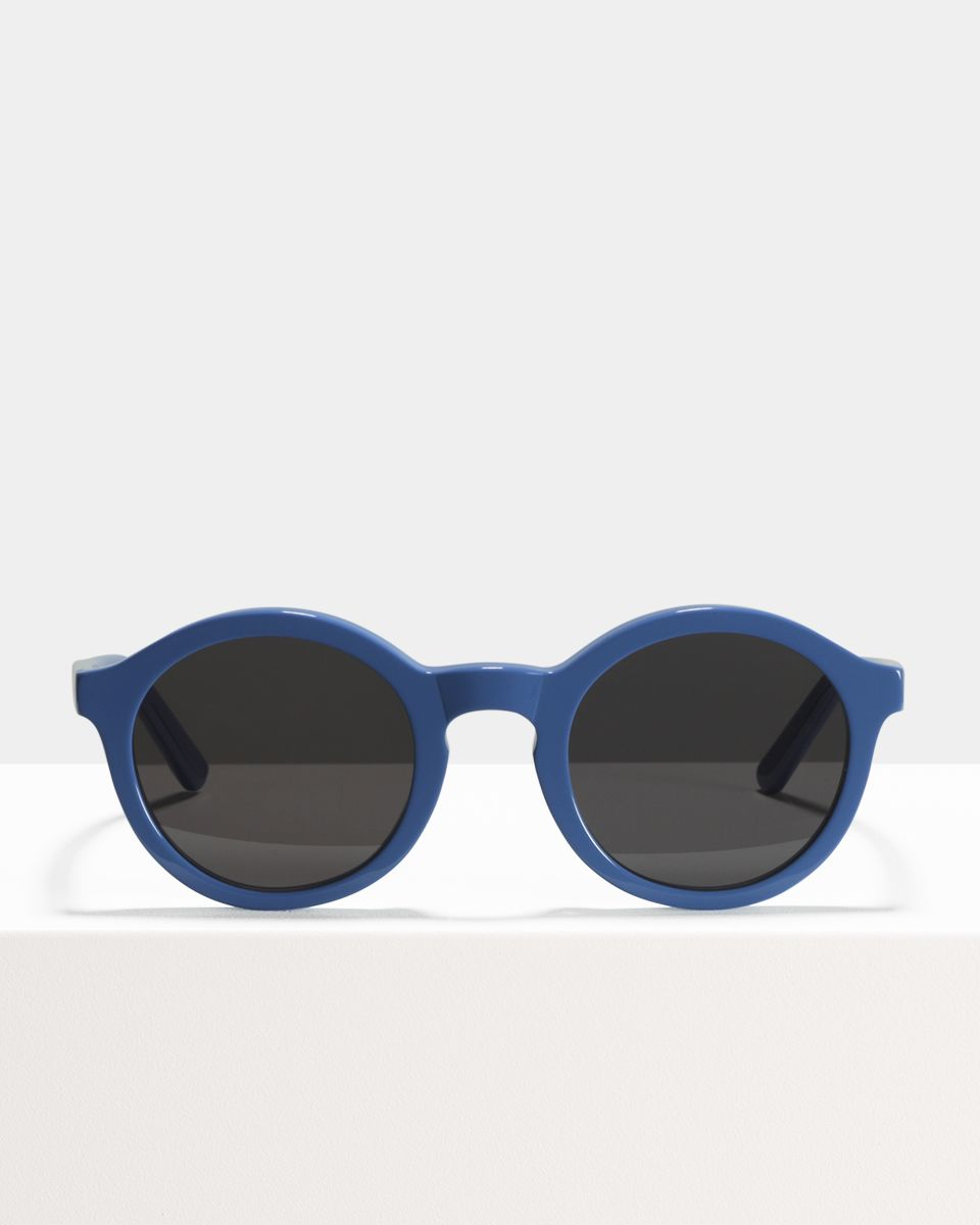 Colin rund Acetat glasses in Bluebell by Ace & Tate