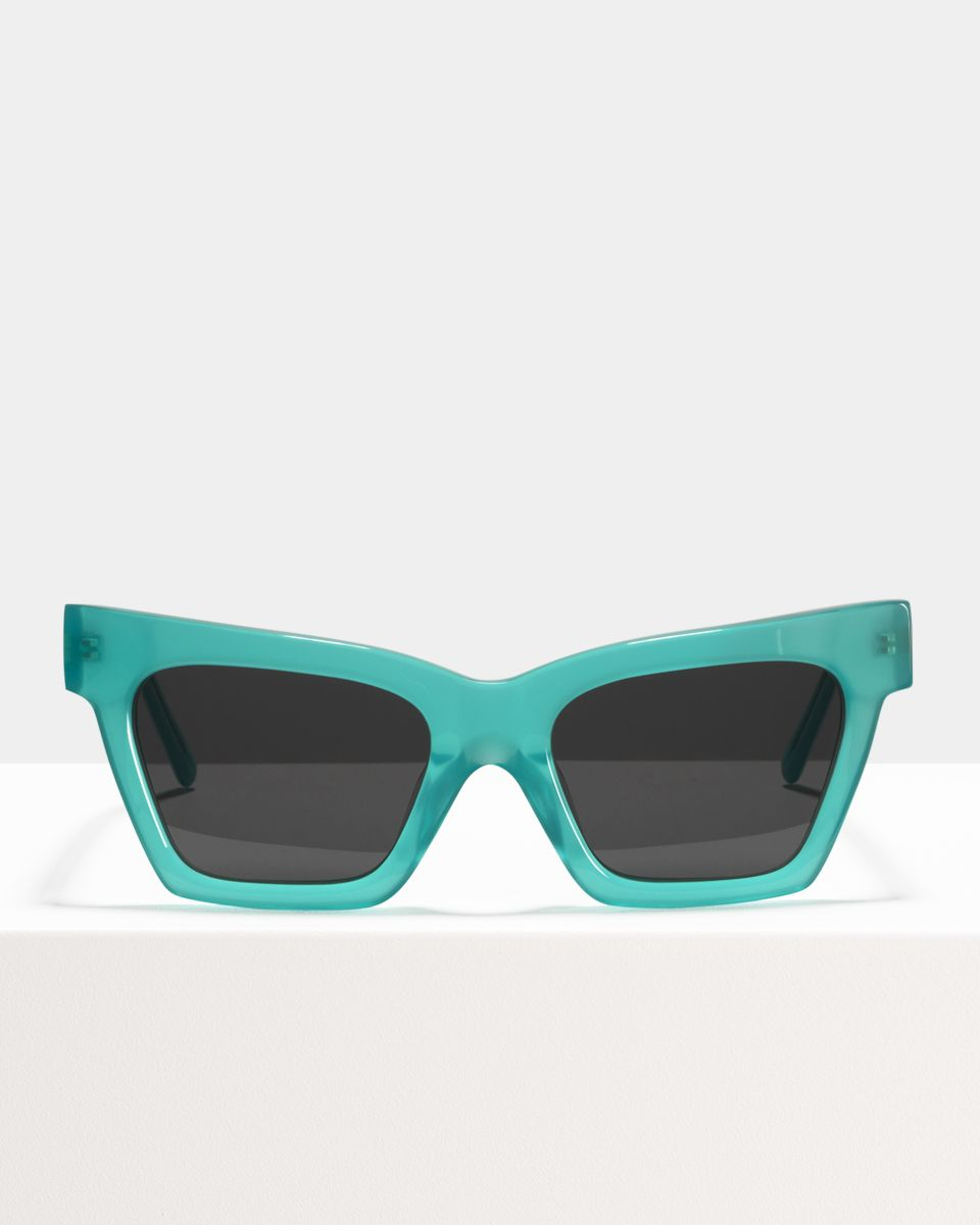 Grace rectangulaire acétate glasses in Bora Bora by Ace & Tate