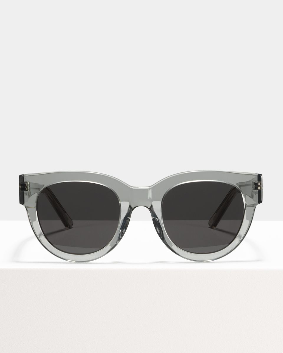 Heather rond acetaat glasses in Smoke by Ace & Tate