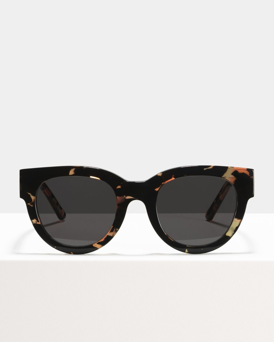 Heather rund Acetat glasses in Confetti by Ace & Tate