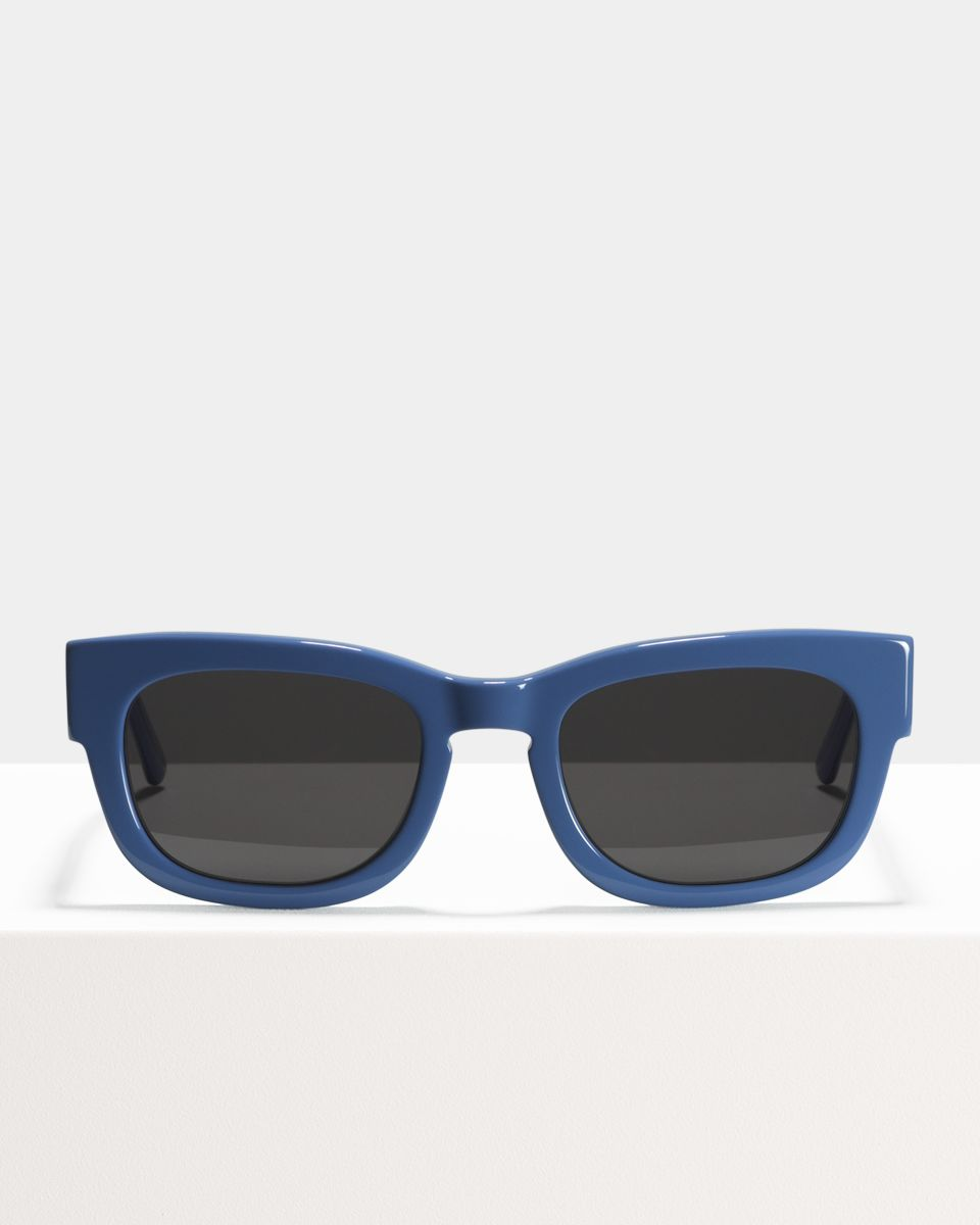 Pete rechthoekig acetaat glasses in Bluebell by Ace & Tate