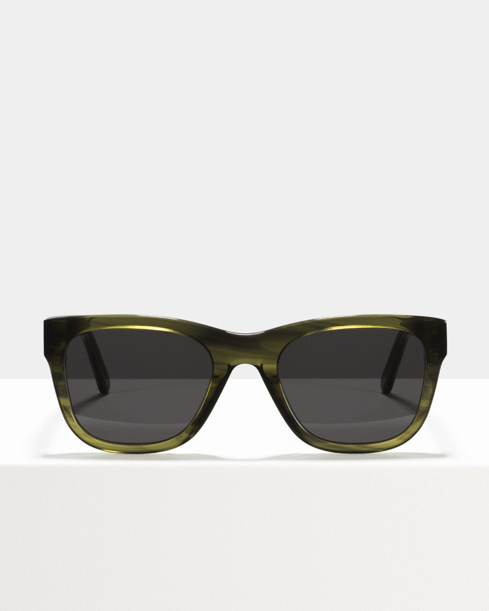 Clay rechthoek bioacetaat glasses in Botanical Haze by Ace & Tate