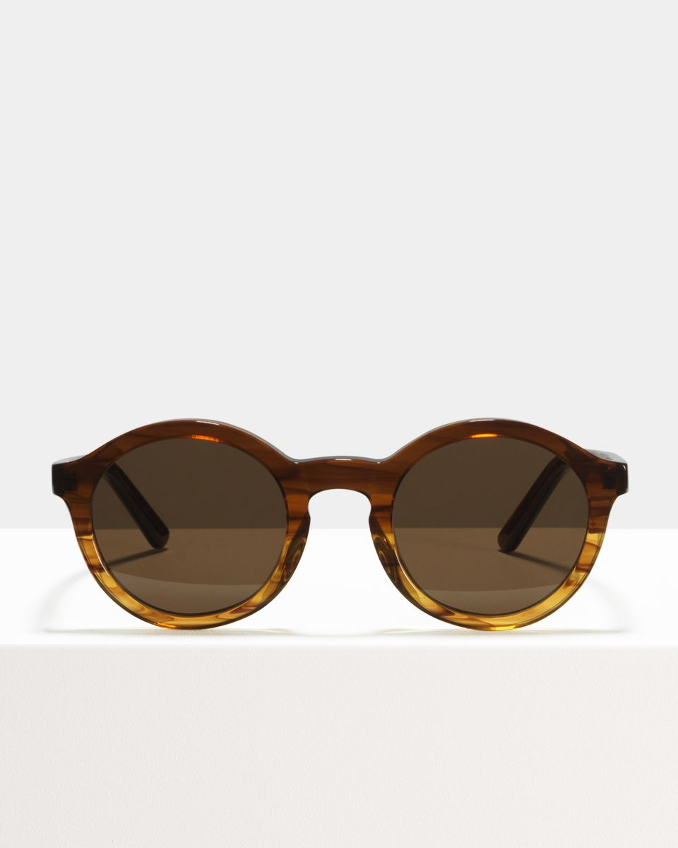 Colin rond acetaat glasses in Chocolate Havana Fade by Ace & Tate