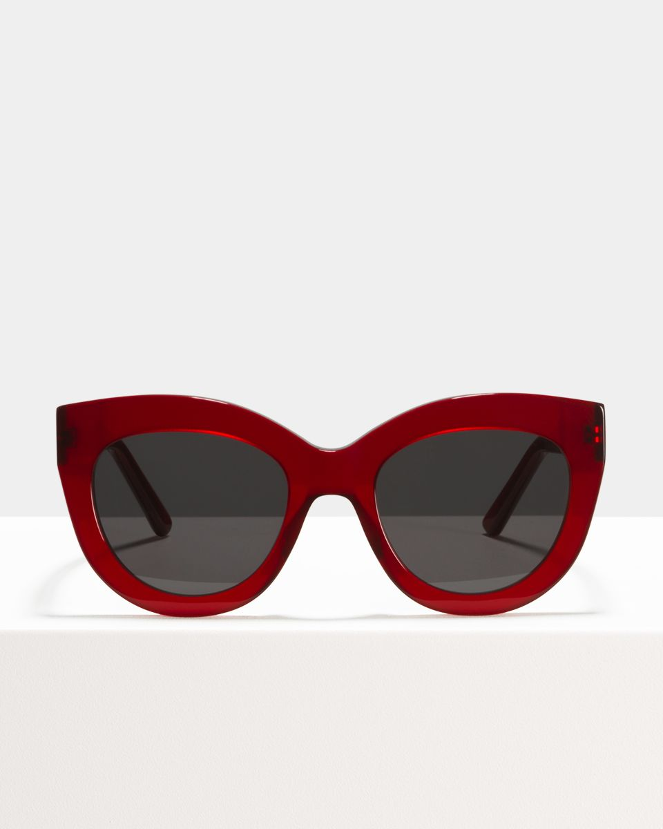 Vic round acetate glasses in Poppy by Ace & Tate