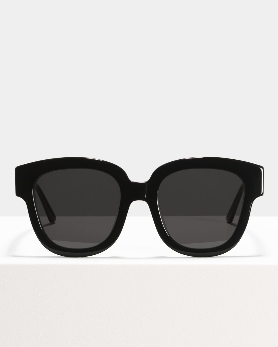 Harper vierkant bio acetate glasses in Bio Black by Ace & Tate