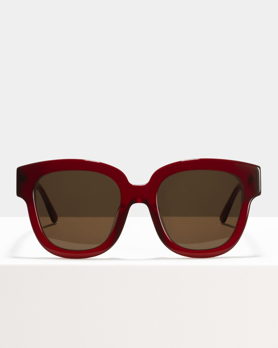 Harper quadratisch Acetat glasses in Poppy by Ace & Tate