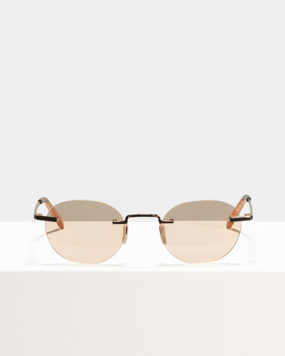 Elliot Titanium oval Titan glasses in Marmalade by Ace & Tate
