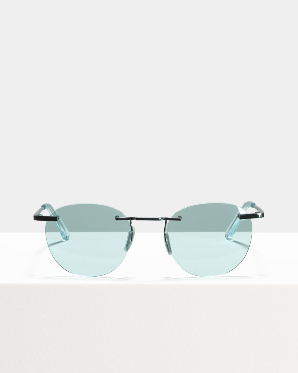 Vince Titanium rond titanium glasses in Sky by Ace & Tate