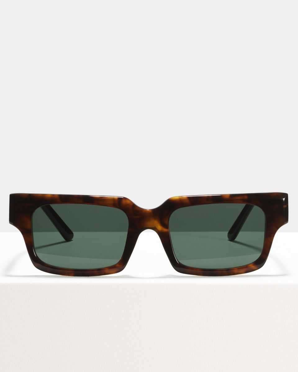 Henri rechthoek acetaat glasses in Rosewood by Ace & Tate