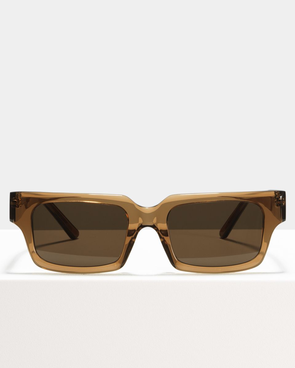 Henri rectangle acetate glasses in Golden Brown by Ace & Tate