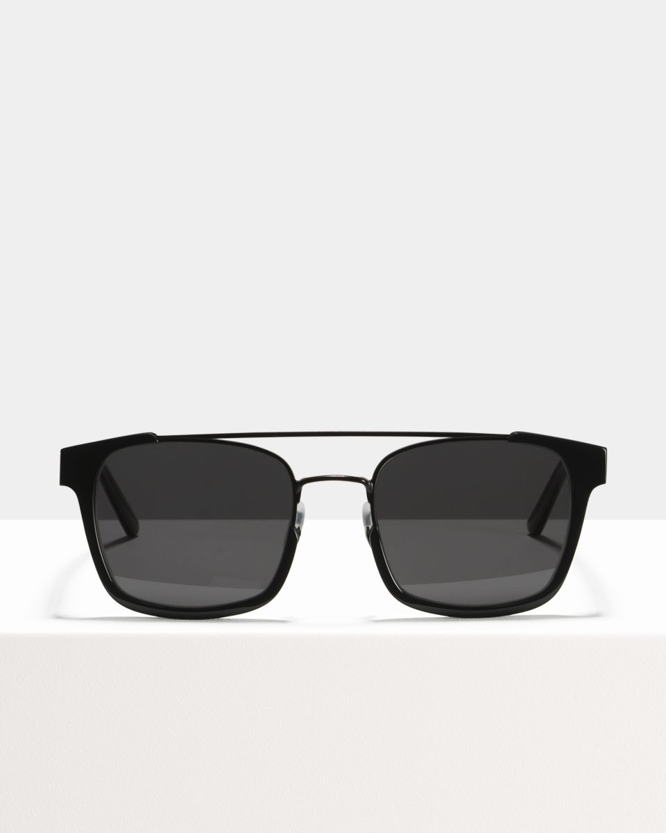Conor vierkant bio_acetate,combi glasses in Bio Black by Ace & Tate