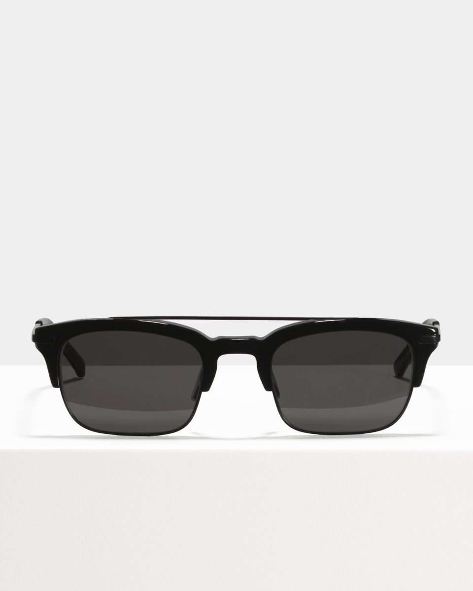 Nate rectangle bio_acetate,combi glasses in Bio Black by Ace & Tate