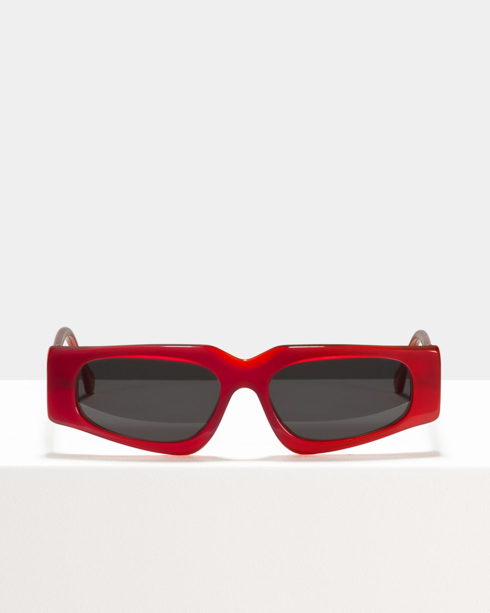 Ashley Hell Raiser rectangle acetate glasses in Cherry by Ace & Tate